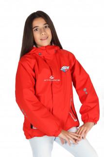 Купить оптом куртку демисезонную для девочки красного цвета 029-3Kr в интернет магазине MTFORCE.RU