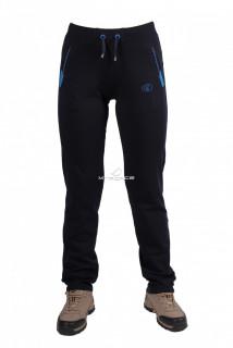 Купить оптом брюки трикотажные женские темно-синего цвета 03TS в интернет магазине MTFORCE.RU