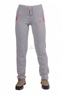 Купить оптом брюки трикотажные женские серого цвета 03Sr в интернет магазине MTFORCE.RU