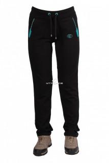Купить оптом брюки трикотажные женские черного цвета 03Ch в интернет магазине MTFORCE.RU