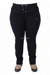 Купить оптом брюки трикотажные женские большого размера темно-синиего цвета 030TS в интернет магазине MTFORCE.RU