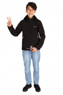 Интернет магазин MTFORCE.ru предлагает купить оптом куртка ветровка подростковая для мальчика черного цвета 034-2Ch по выгодной и доступной цене с доставкой по всей России и СНГ