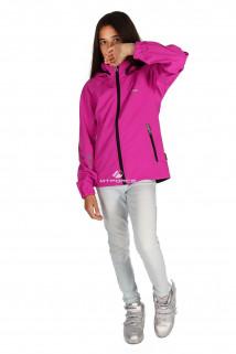 Куртка ветровка подростковая для девочки розового цвета 034-3R в интернет магазине MTFORCE.RU
