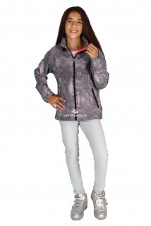 Интернет магазин MTFORCE.ru предлагает купить оптом куртку ветровку подростковую для девочки светло-серого цвета 034-3SS по выгодной и доступной цене с доставкой по всей России и СНГ