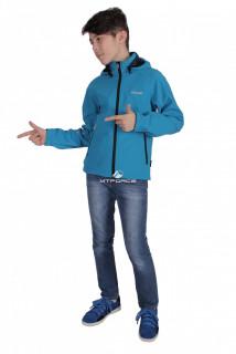 Куртка ветровка подростковая для мальчика голубого цвета 034-2Gl в интернет магазине MTFORCE.RU