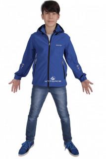 Куртка ветровка подростковая для мальчика синего цвета 034-2S в интернет магазине MTFORCE.RU