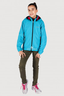 Купить оптом куртка ветровка подростковая для девочки голубого цвета 034-3Gl в интернет магазине MTFORCE.RU