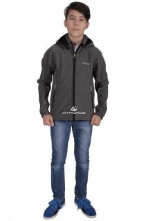 Куртка ветровка подростковая для мальчика серого цвета 034-2Sr в интернет магазине MTFORCE.RU