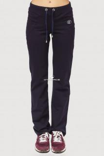 Купить оптом брюки трикотажные женские темно-синего цвета 041TS в интернет магазине MTFORCE.RU