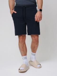 Городского стиля мужские трикотажные шорты летние черного цвета купить оптом в интернет магазине MTFORCE 050620Ch