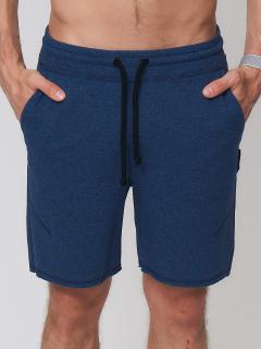 Городского стиля мужские трикотажные шорты летние темно-синего цвета купить оптом в интернет магазине MTFORCE 050620TS
