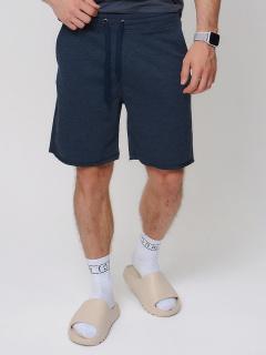 Городского стиля мужские трикотажные шорты летние темно-синего цвета купить оптом в интернет магазине MTFORCE 280520
