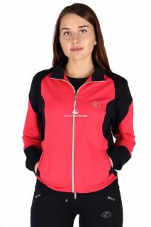 Купить оптом олимпийка женская персикового цвета 050P в интернет магазине MTFORCE.RU