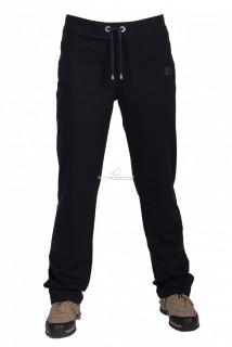 Купить оптом брюки трикотажные женские большого размера темно-синего цвета 055TS в интернет магазине MTFORCE.RU