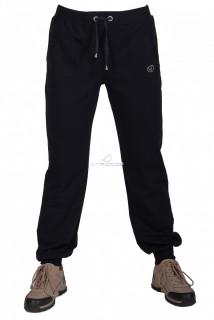 Купить оптом брюки трикотажные женские большого размера темно-синего цвета 065TS в интернет магазине MTFORCE.RU