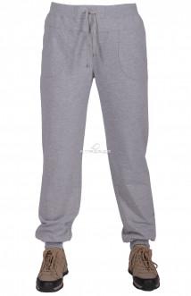 Купить оптом брюки трикотажные женские большого размера серого цвета 065Sr в интернет магазине MTFORCE.RU