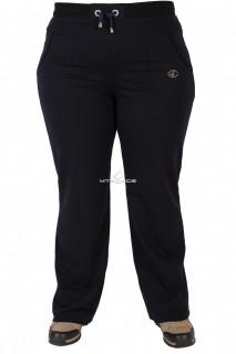 Купить оптом брюки трикотажные женские большого размера темно-синего цвета 06TS в интернет магазине MTFORCE.RU