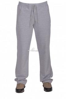 Купить оптом брюки трикотажные женские серого цвета 041Sr в интернет магазине MTFORCE.RU
