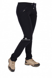 Купить оптом брюки трикотажные женские темно-синего цвета 08TS в интернет магазине MTFORCE.RU