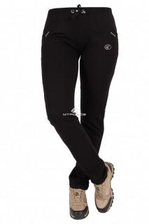 Купить оптом брюки трикотажные женские черного цвета 08Ch в интернет магазине MTFORCE.RU