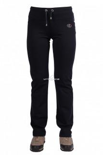 Купить оптом брюки трикотажные женские темно-синего цвета 09TS в интернет магазине MTFORCE.RU