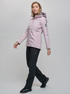 Женский осенний весенний костюм спортивный softshell розового цвета купить оптом в интернет магазине MTFORCE 02035R