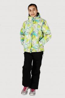 Купить оптом куртка горнолыжная подростковая для девочки желтого цвета 548-1J в интернет магазине MTFORCE.RU