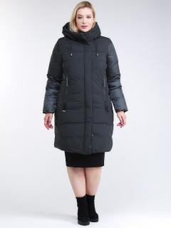 Купить оптом женскую зимнюю классику куртку большого размера черного цвета в интернет магазине MTFORCE 100-921_150TZ