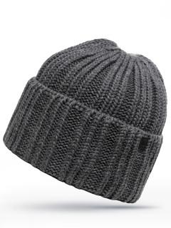 Купить оптом шапку темно-серого цвета в интернет магазине MTFORCE 6029TC