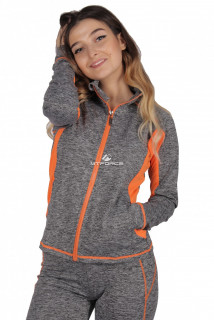 Купить оптом олимпийка женская спортивная серого цвета 1021Sr в интернет магазине MTFORCE.RU