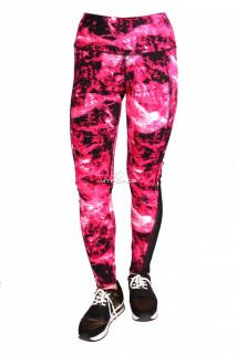 Купить оптом брюки легинсы женские розового цвета 1065R в интернет магазине MTFORCE.RU