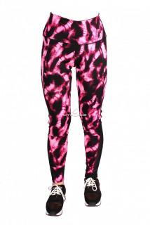 Купить оптом брюки легинсы женские малинового цвета 1065M в интернет магазине MTFORCE.RU