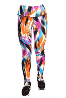 Купить оптом брюки легинсы женские оранжевого цвета 1065O в интернет магазине MTFORCE.RU