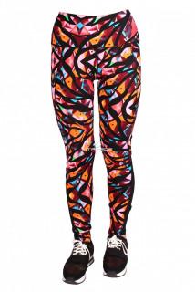 Купить оптом брюки легинсы женские бордового цвета 1065Bo в интернет магазине MTFORCE.RU