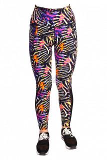Купить оптом брюки легинсы женские синего цвета 1066S в интернет магазине MTFORCE.RU
