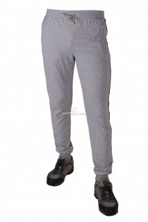 Купить оптом брюки трикотажные мужские  серого цвета 1073Sr в интернет магазине MTFORCE.RU