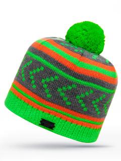 Купить оптом шапку зеленого цвета в интернет магазине MTFORCE 6031Z