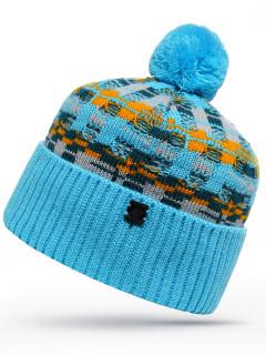 Купить оптом шапку голубого цвета в интернет магазине MTFORCE 6032Gl