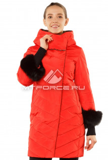 Интернет магазин MTFORCE.ru предлагает купить оптом пуховик женский зимний красного цвета 1141Kr по выгодной и доступной цене с доставкой по всей России и СНГ