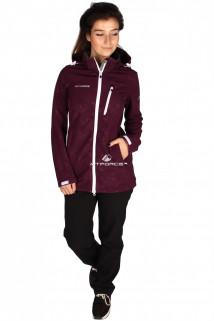 Купить оптом костюм виндстопер женский фиолетового цвета 01735F в интернет магазине MTFORCE.RU