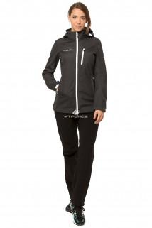 Купить оптом костюм виндстопер женский темно-серого цвета 01735TC в интернет магазине MTFORCE.RU