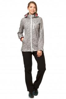 Купить оптом костюм виндстопер женский серого цвета 01735-1Sr в интернет магазине MTFORCE.RU