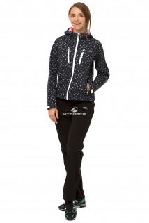 Купить оптом костюм виндстопер женский черного цвета 01760Ch в интернет магазине MTFORCE.RU