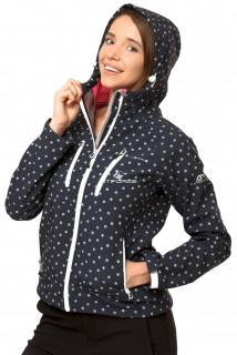 Купить оптом ветровка - виндстоппер женская черного цвета 1760Ch в интернет магазине MTFORCE.RU