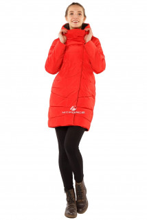 Купить оптом куртку женскую зимнюю красного цвета 1185Kr в интернет магазине MTFORCE.RU