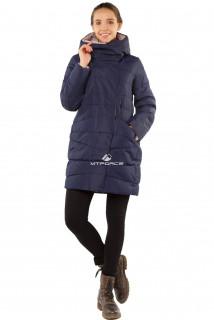 Купить оптом куртку женскую зимнюю темно-синего цвета 1185TS в интернет магазине MTFORCE.RU