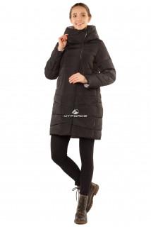 Купить оптом куртку женскую зимнюю черного цвета 1185Ch в интернет магазине MTFORCE.RU