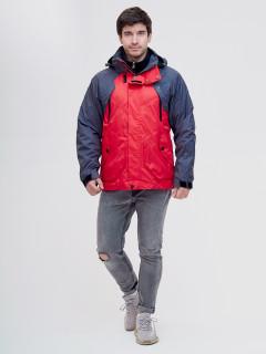 Купить оптом мужскую демисезонную куртку 3 в 1 красного цвета в интернет магазине MTFORCE  12007Kr