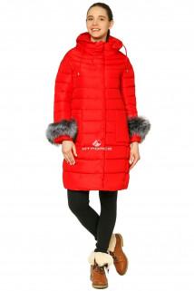 Купить оптом куртку зимнюю женскую красного цвета 1285Kr в интернет магазине MTFORCE.RU