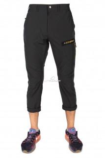 Купить оптом брюки спортивные мужские тонкие темно-серого цвета 14018TC в интернет магазине MTFORCE.RU